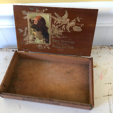 Victorian Wooden Christmas Cigar Gift Box Maduro Cigar Box