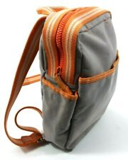 """Diesel Spare Parts Small Canvas Backpack 12"""" x 8"""" Orange and Grey A2802"""