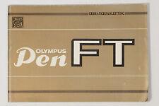 Olympus Pen FT Bedienungsanleitung Gebrauchsanleitung Handbuch Deutsch