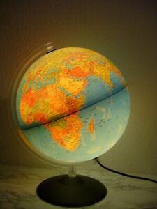 Weltkugel Leuchtglobus Globus mit Beleuchtung Höhe 42 cm Atlas Kugel