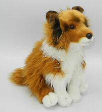Uni-Toys Neuware Hund Hütehund Collie sitzend braune Nase ca. 25cm groß