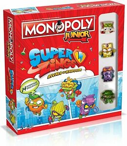 Monopoly Junior Super Zings. Versión en castellano. Más de 5 años. 2-4 jugadores