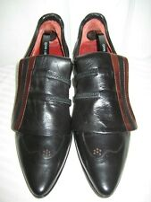 Ixos Black Leather Women's Shoes Size 38.5 / 8 Made In ITALY.