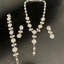 Nuevo Moda Collar y Pendientes Cristal & Pulsera hecho con Swarovski Elements