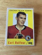 Topps hockey 1959-60 Earl Balfour Chicago Blackhawks card # 50