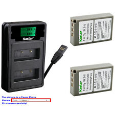 Kastar Battery LZD2 USB Charger for Olympus BLS-5 & Olympus E-PM2 EPM2 Camera