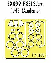 Eduard 1/48 F-86F Sabre paint mask for Academy kit # EX099