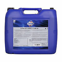 Fuchs 5w30 Engine Oil 20 Litre Titan GT1 Pro C-2 Approved Fully Synthetic DPF