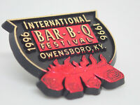 International Bar B Q Festival Bbq Barbecue 1996 Vintage Lapel Pin