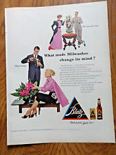 1953 Vintage Blatz Beer Ad What Made Milwaukee Change 1953 Planters Peanuts Ad