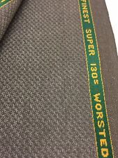 WAIN SHIELL 3.5 metres Brown Super 130's Wool & Cashmere Summer Suit Fabric.