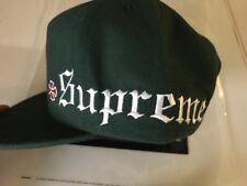 SUPREME X Independent Old English Dark Green 5 panel hat cap F/W 17 Wool Blend