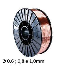 FILO FERRO SG2 BOBINA D200 D.0,6 0,8 1,0 1,2 DA 5kg SALDATRICE PER SALDATURA GAS