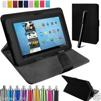 "Samsung Tablet Leather Case Cover For Android 7"" Tablet Alcatel  Pixi 4 3 7"""