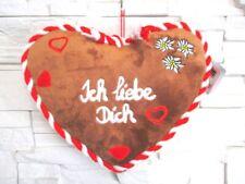 Plüsch Kissen Herzform Ich liebe ich rot 32 cm ! ! Pillow Bayern Neu