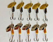 5 black spinners 5 yellow martin 1/4 oz, see my other items for mepps choices