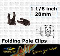 "Folding Pole Storage Clip 28mm 1 1/8"" Boat 4wd Kayak Fitting deck pipe tube bar"