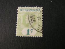 BRITISH HONDURAS, SCOTT # 58, 1c VALUE GRAY GREEN & GREEN 1904 KEV11 ISSUE USED