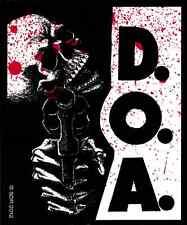 40116 D.O.A. Dead on Arrival Skeleton Skull Gun Blood Punk Rock Sticker / Decal