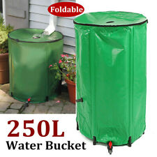 250L EVA Rain Barrel Foldable Water Collection Bucket Tank Rain Storage