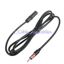 Car AM FM Radio Aerial Antenna Extension Cord Male to Female Radio Cable 6 feet