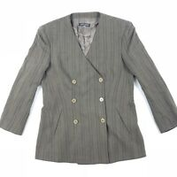 Giorgio Armani Women's Blazer Jacket Double Breasted Olive Green • Size 10 | 44