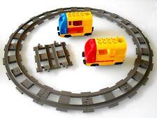 1x Lego Duplo Batteriebetriebene Ville Lok mit Schienen