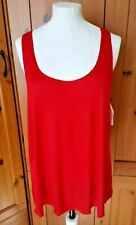 Bozzolo fire engine red rayon racerback vest top t shirt jersey medium 10 12