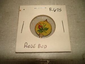 ROSE BUD - Color Litho - R675 - Plug Chewing Tobacco Tin Tag