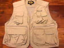 Men's Woolrich Beige Fishing Hunting Travel Vest Size Large (BL)