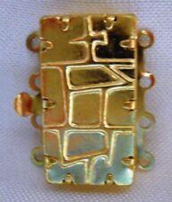 1 Schmuckverschluß - Kettenverschluß für 4-reihige Ketten - Goldfarben V-G 016