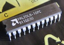 2x PAL20L8-10PC programmable array logic, AMD