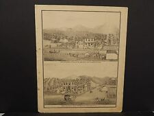 Ilinois Cass County Map Farm of Calvin Wilson 1874 !J15#04