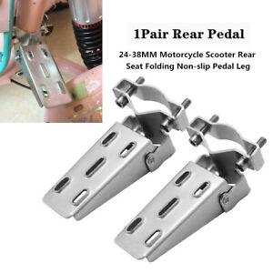 2X 24-38MM Iron Motorcycle Scooter Rear Seat Folding Non-slip Foldable Pedal Leg