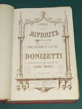 Partition ancienne Piano et Chant La Favorite DONIZETTI arr. R. WAGNER