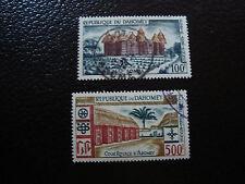 DAHOMEY - timbre - yvert et tellier aerien n° 18 19 obl (A7) stamp