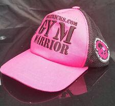 Body building Snap Back Cap Peaked Hat pink Gym ladies cap
