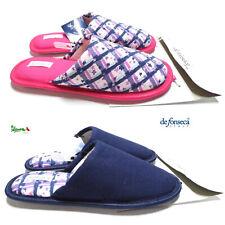 DEFONSECA Ciabatte pantofole donna cotone punta chiusa gomma CLASS D83