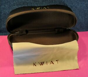 """KWIAT""  Original Brown  Eyeglasses case&Cleaning cloth  c.1999's"