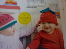Knitting Pattern For 3   Different Fruit Hats For Babies In D.K.-To Fit 6-12mths