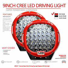 2X 9inch 7200W Cree Led  Spot Work Driving Light  OFFROAD high power red