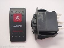 ANCHOR LIGHT SWITCH CARLING CONTURA II BLK 2 RED LENS BOAT STERN LIGHT V1D1G66B
