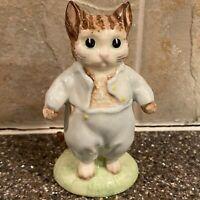 Vintage Beatrix Potter Tom Kitten Figurine Royal Albert England 1989