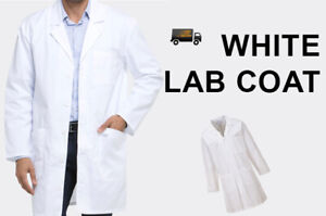 WHITE LAB COAT Doctors Medical Warehouse Industry Safety WorkWear Overall Mens
