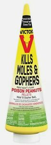 2 pack - Victor Poison Peanuts Bait Pellets For Gophers and Moles 6 oz.