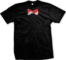 Red White Striped Bowtie Formal Funny Humor Dressed Up Joke Mens T-shirt