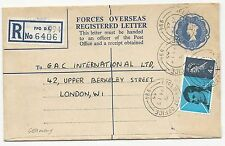 Great Britain H&G #12 Scott #444 Registered Letter Field Post to London 1966