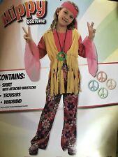 Hippy Girl bambini libro settimana medio HIPPIE RAGAZZA ANNI/'70 Costume