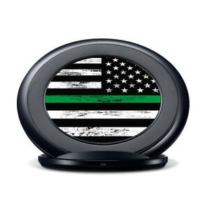 Vinyl Decal Skin for Samsung Fast Charge - Thin Green Line