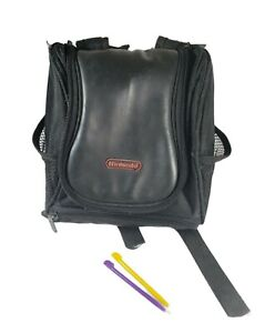 OEM Official Nintendo mini Backpack Carrying Case Black Zippered Game Bag